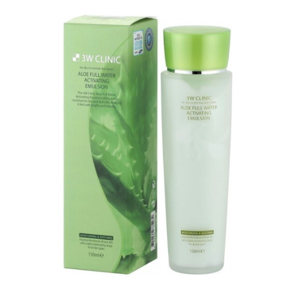 3W CLIINIC Тоник для лица Aloe Full Water Activating, 150 мл