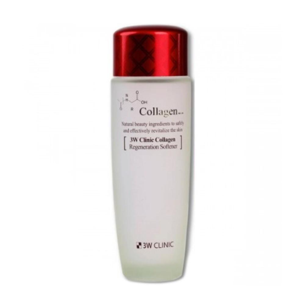 3W CLINIC ЛИФТИНГ Скин-тоник для лица с коллагеном регенер. Collagen Regeneration Softener, 150 мл