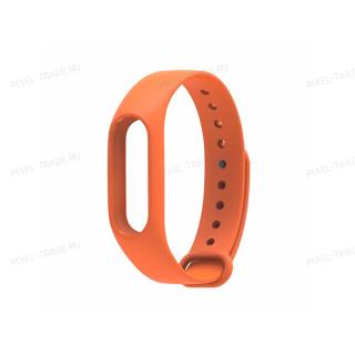Ремешок силиконовый для Xiaomi Mi Band 3 (Оранжевый)