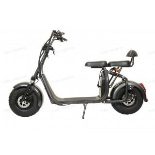 Электроскутер Citycoco Harley 1500W, 20А 60В Черный Карбон (плюс доп. место для второй АКБ)