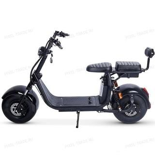 Электроскутер Citycoco Harley 1500W, 20А 60В Черный (плюс доп. место для второй АКБ)