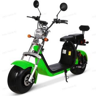 Электроскутер Citycoco Harley X10 2000W, 20А 60В Зеленый (плюс доп. место для второй АКБ)