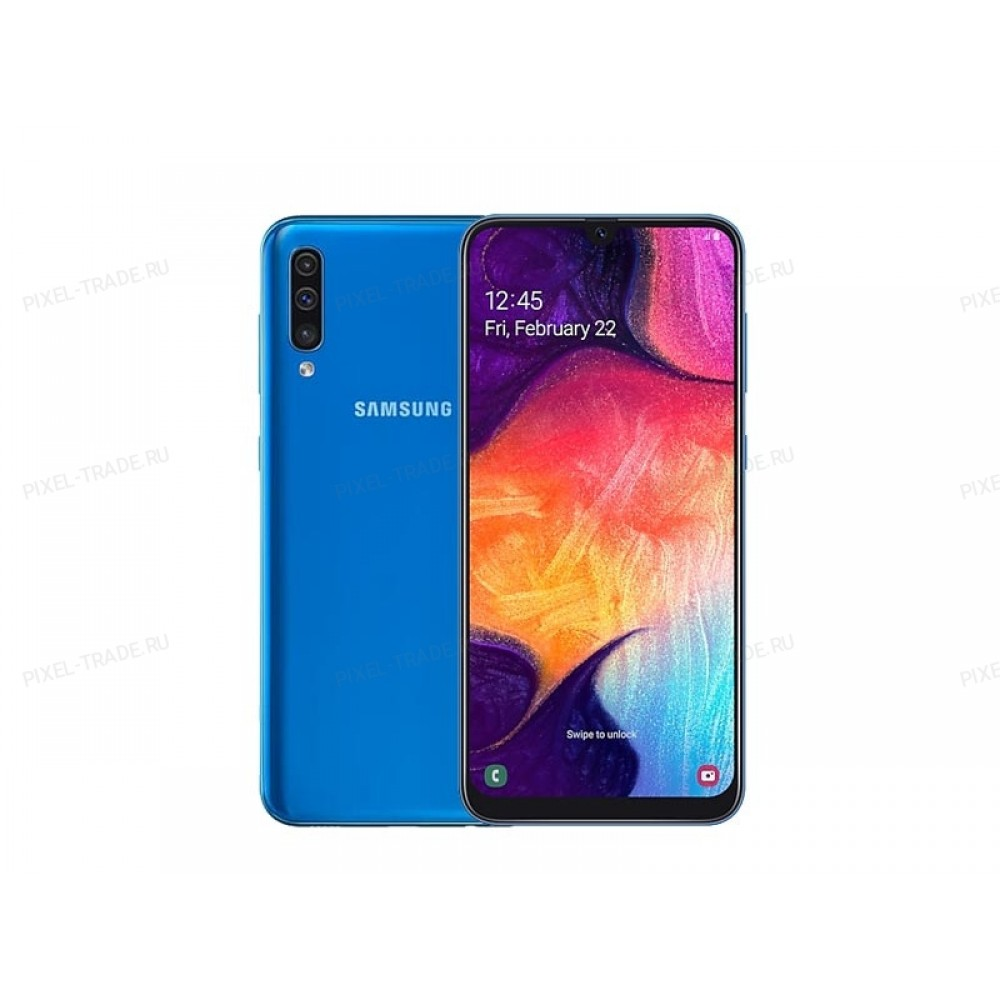 Смартфон Samsung Galaxy A50 128Gb Blue (Ru)