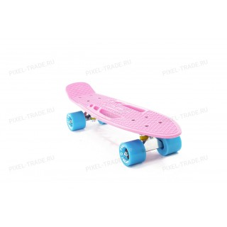 """Скейтборд PWSport Fish 22"""" Розовый"""