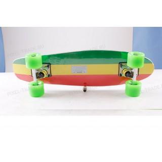 Скейт борд Shark TLS-2206 (деревянный) Трёхцветный
