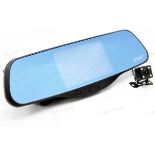 Автомобильный видеорегистратор-зеркало с антирадаром GPS и 2-я камерами Eplutus GR-50