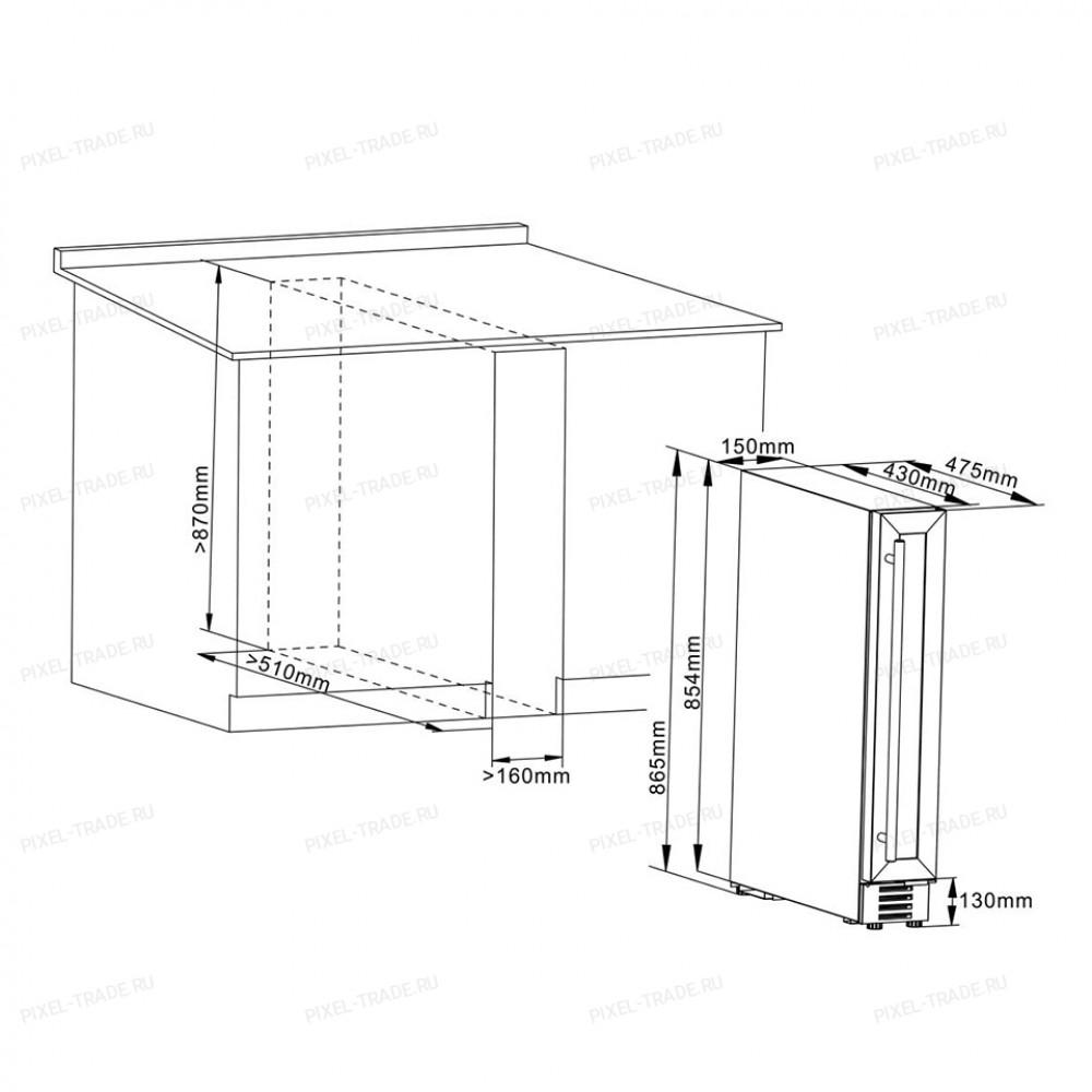 Винный шкаф Cellar Private CP007B