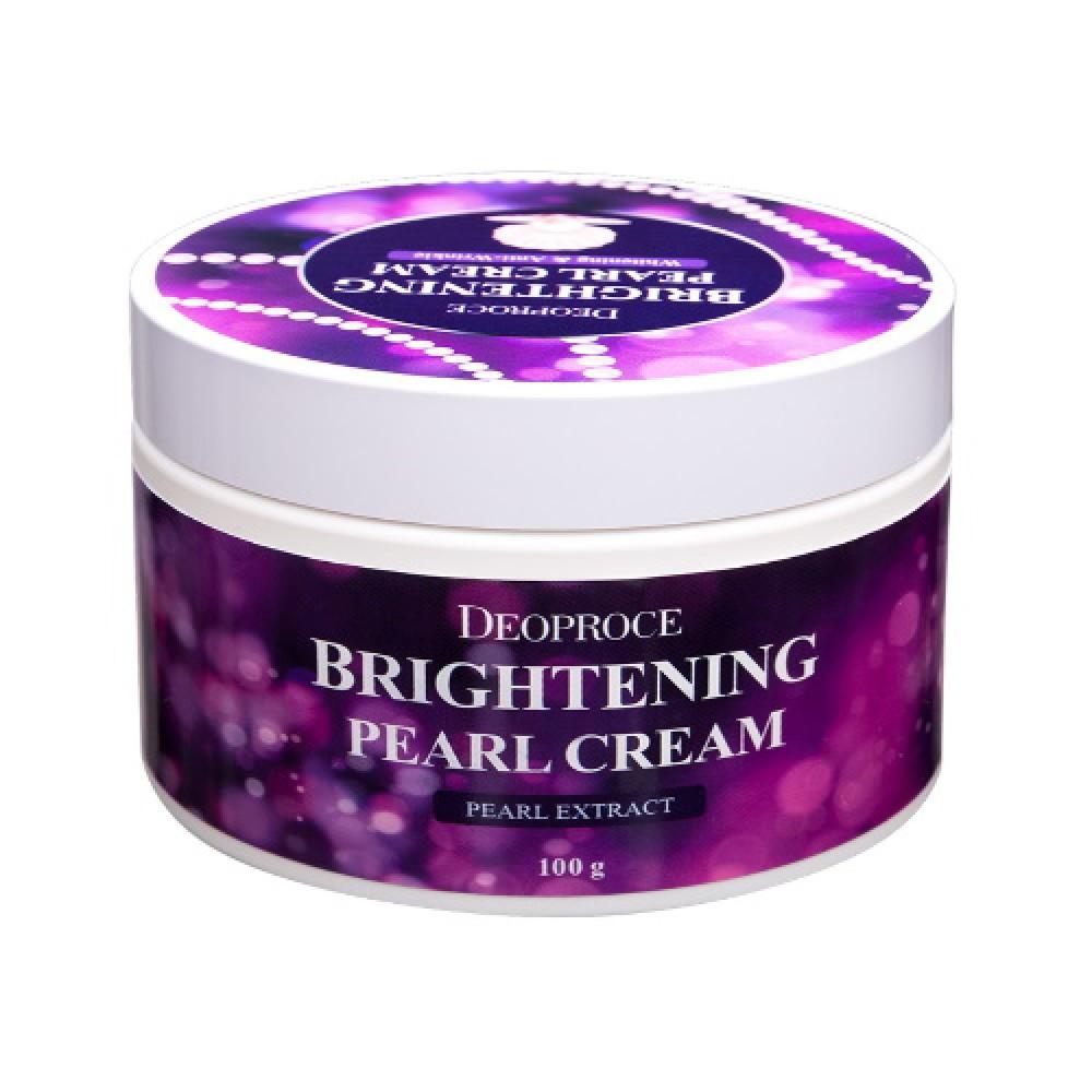 Deoproce Увлажняющий крем с экстрактом жемчуга для сияния кожи лица Moisture Brightening Pearl Cream, 100 мл