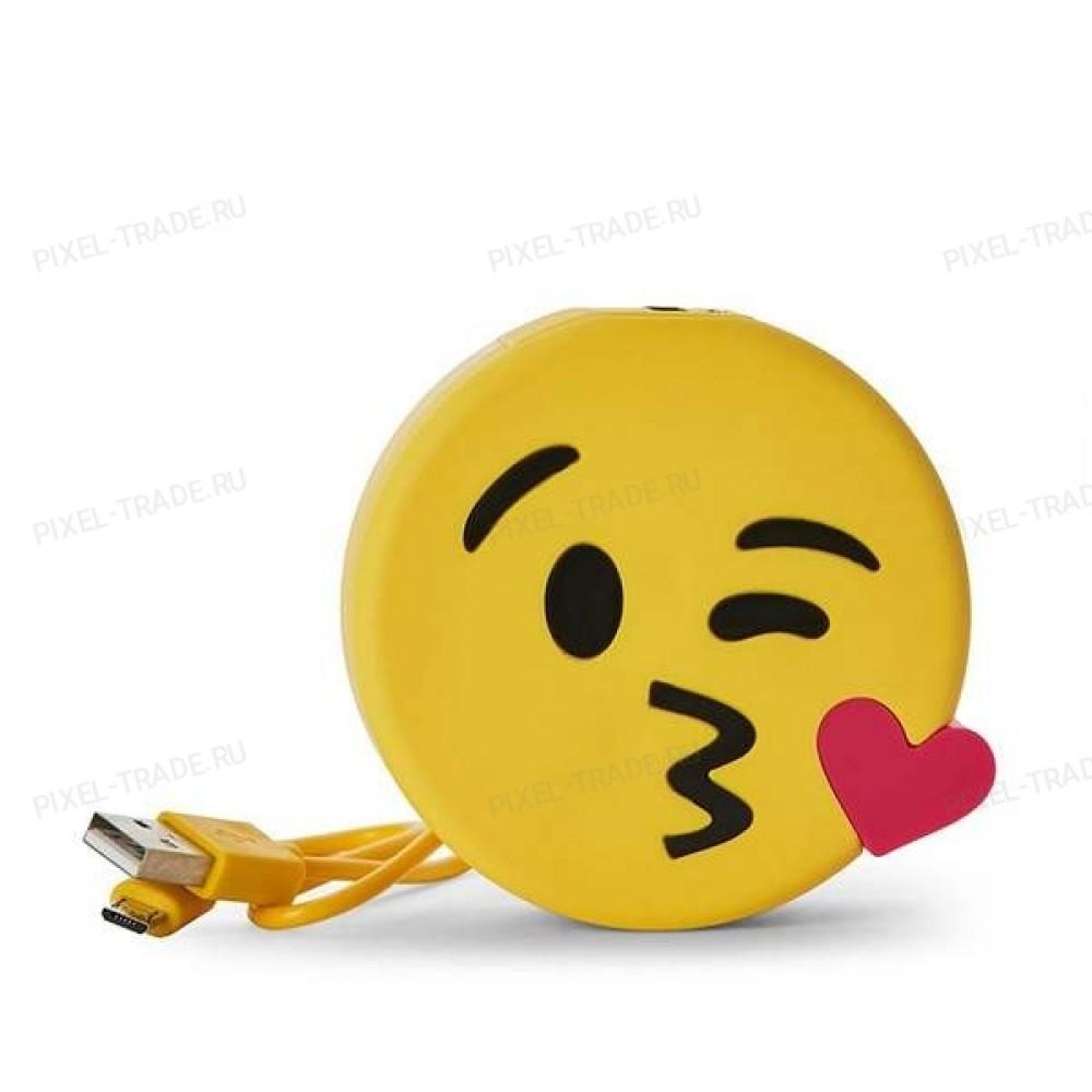 Внешний аккумулятор Emoji PowerBank Kiss 1000 mAh